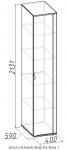 Элегия Шкаф для белья 1 (венге/палисандр) (400х2131х590)