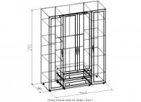 Милана Шкаф для одежды и белья 1 (орех) (1562х2113х590)