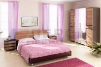 Спальня Дольче Нотте 12 (Дуб Венге/Слива Валлис)