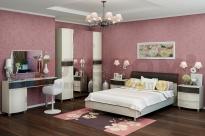 Спальня Дольче Нотте 17 (Дуб Беленый-Комбинированный)