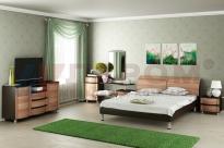 Спальня Дольче Нотте 8 (Дуб Венге/Слива Валлис)
