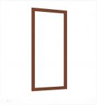 Александрия Зеркало настенное (орех) ЛД 125.140 (594х1062)