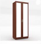 Александрия Шкаф двухстворчатый двери с зеркалом (орех) ЛД 125.020.125.001 (888х2160х460)