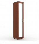 Александрия Шкаф одностворчатый дверь с зеркалом (орех) ЛД 125.010.125.001 (446х2160х460)