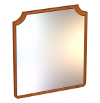 Аврора Панель с зеркалом (вишня оксфорд) ЛД 504.090 (800х900х20)