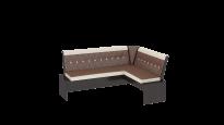 Кантри кухонная скамья Т1 исп.1 Каркас: Венге; Кожзам: темно-коричневый (1780×1350×810)