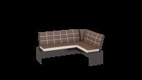 Кантри кухонная скамья Т1 исп.2 Каркас: Венге; Кожзам: темно-коричневый (1780×1350×810)
