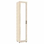 Александрия Шкаф одностворчатый дверь с зеркалом (кожа ленто) ЛД 125.010.125.001 (446х2160х460)