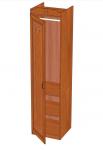 Аврора Шкаф одностворчатый левый (вишня оксфорд) ЛД 504.210 (500х2102х473)