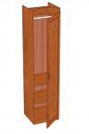 Аврора Шкаф одностворчатый правый (вишня оксфорд) ЛД 504.010 (500х2102х473)