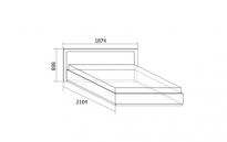 Ивона Кровать двойная с подъемным механизмом 1600 (1874х898х2104) спальное место 1600х2000