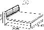 Марианна Кровать двойная без основания 1400 (1446х1011х2095) спальное место 1400х2000