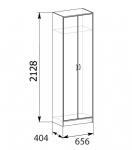 Прихожая Сантана Шкаф для одежды (656х2128х404)