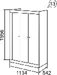 Саванна Шкаф для одежды 3-х дверный (1134х1956х542)