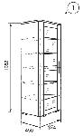 Марианна Шкаф для посуды без рисунка (374х1982х450)