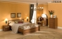 Милана Кровать 3 (орех) (1366х800х2034) спальное место 1200х2000