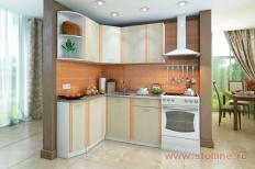Угловая кухня «Бланка» левая СТЛ.123.00 (Белый/Дуб кремона)