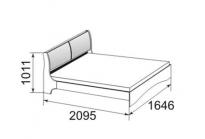 Марианна Кровать без основания 1600 (1646х1011х2095) спальное место 1600х2000