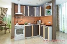 Угловая кухня «Бланка» правая СТЛ.122.00 (Белый/Венге)