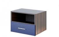 Аватар Тумба прикроватная M синий металлик 520х345х430