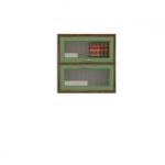 ДИЕГО Витрина двойная горизонтальная СВ-363В(780х800х260) (дуб зеленый)