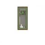 ДИЕГО Витрина вертикальная СВ-364В(495х1146х260) (дуб зеленый)
