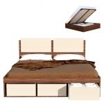 АРТ-СИТИ Кровать с подъемным механизмом и ящиками для белья СВ-66(1660х900х2052)