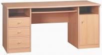 Поп Письменный стол цвет: Ольха медовая kbiu-8-16 1600x750x755