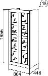 Саванна Шкаф универсальный (804х1956х446)