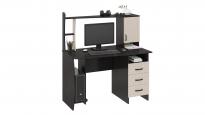 Компьютерный стол «Студент-Класс М» Венге цава/дуб молочный (1200×670×1350)