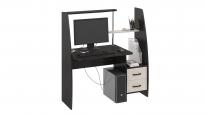 Компьютерный стол «Школьник-Стиль М» Венге цава/дуб молочный (1180×600×1250)