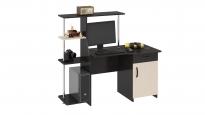 Компьютерный стол «Студент-Стиль М» Венге цава/дуб молочный (1400×600×1250)