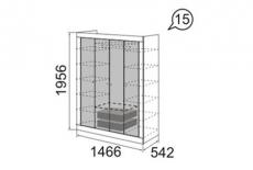 Саванна Шкаф для одежды 4-х дверный (1466х1956х542)