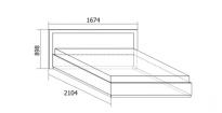 Ивона Кровать с подъемным механизмом 1400 (1674х898х2104) спальное место 1400х2000