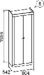 Саванна Шкаф для одежды (804х1956х542)
