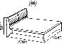 Саванна Кровать двойная без основания 1600 (1646х1011х2095) спальное место 1600х2000
