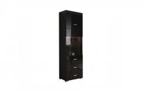 Гостиная Янг черный REG1W1D2S 195 шкаф (500х420х1905)