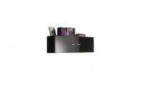 Гостиная Янг черный SFW2D 411 шкаф настенный 1100х320х400