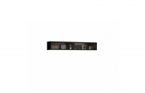 Гостиная Янг черный шкаф настенный S92-SFW2W 212 1200х250х200