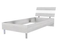 Скала кровать без основания 900х2000 (954x707x2148) Дуб Сантана/Белый Глянец