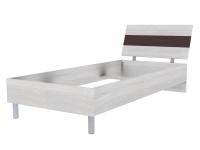 Скала кровать без основания 900х2000 (954x707x2148) Дуб Сантана/Шоколад Глянец