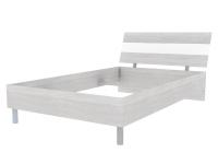 Скала кровать без основания 1200х2000 (1254x707x2148) Дуб Сантана/Белый Глянец