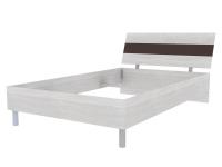 Скала кровать без основания 1200х2000 (1254x707x2148) Дуб Сантана/Шоколад Глянец