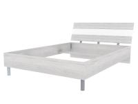 Скала кровать без основания 1400х2000 (1454x707x2148) Дуб Сантана/Белый Глянец