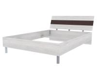 Скала кровать без основания 1400х2000 (1454x707x2148) Дуб Сантана/Шоколад Глянец