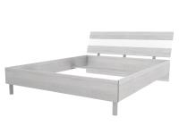 Скала кровать без основания 1600х2000 (1654x707x2148) Дуб Сантана/Белый Глянец