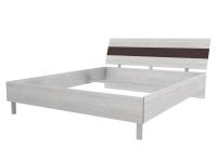 Скала кровать без основания 1600х2000 (1654x707x2148) Дуб Сантана/Шоколад Глянец