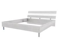 Скала кровать без основания 1800х2000 (1254x707x2148) Дуб Сантана/Белый Глянец