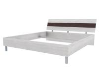 Скала кровать без основания 1800х2000 (1254x707x2148) Дуб Сантана/Шоколад Глянец