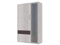 Скала шкаф витрина левый СТЛ.136.20 (960x1536x360) Дуб Сантана/Шоколад Глянец